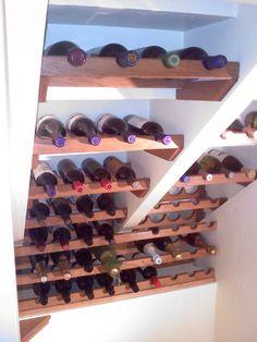 wine rack under stairs | wine rack under stairs | Acclaimed Builder