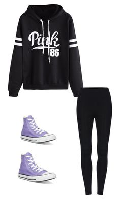 """""""Untitled #379"""" by austynh on Polyvore featuring WithChic and Converse"""