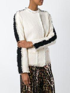 Lanvin frayed trim bouclé jacket