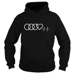 Audi Heart Beat. Automotive t-shirts funny clever quotes sayings hoodies tees gifts