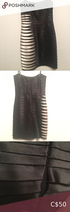 BCBG Dress BCBG Black Dress Black and white Strapless Size 2 Perfect condition Little damage at back zipper BCBGMaxAzria Dresses Strapless