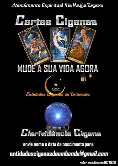 Entidades Ciganas da Umbanda (Clique Aqui) para entrar.: ATENDIMENTO ESPIRITUAL VIA BARALHO CIGANO