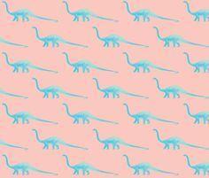 Sauropod Dinosaur fabric by luluhoo on Spoonflower - custom fabric