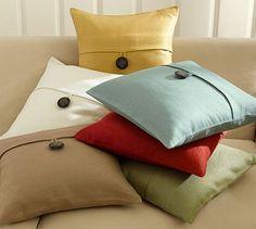 Textured Linen Pillow Covers #potterybarn