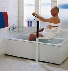 Save up to off on Bathlift Lifts, Battery Powed Bathtub Lift, Electric Bathtub Lift, Handicap LIft, and more products for designing Disabled Bathroom. Disabled Bathroom, Handicap Bathroom, Bathroom Chair, Shower Chair, Bath Chair For Elderly, Handicap Accessible Home, Wooden Office Chair, Bathroom Safety, Elderly Home
