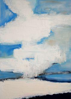 De wolken van Nicolas de Stael als uitgangspunt, nageschilderd door wendy graat