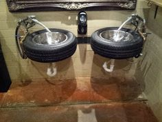 Ford S Garage Italian Mustangers And The Coolest Bathrooms Ever Southeast Florida Shelby Garage Ideasbasement Ideasman Cavesshop