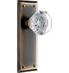 Classic crystal knob doorknob set
