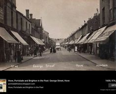 George Street, Hove Brighton And Hove, Local History, Timeline Photos, Old Photos, The Past, Happiness, Street, Places, Old Pictures