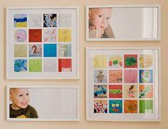 Great idea to Display Kids Artwork