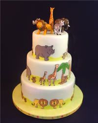 Cute Animal Cake found on  obsessedwithscrapbooking.com