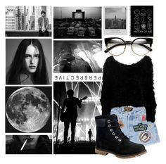 """""""black and white"""" by vitoriafreitas75 ❤ liked on Polyvore featuring Meggie, ZeroUV, MadeWorn, Timberland, black and louistomlinson"""