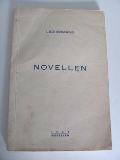 1965 Jewish novel NOVELLEN rare signed Leo Ermann by Vinphemera