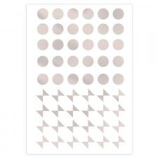 Dots and bows - silver wall stickers