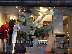 Burberry, Christmas 2013, London. We love shops and shopping. That's it…