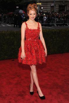 Met Gala 2012 Emma Stone in Lanvin...I mean she is precious!
