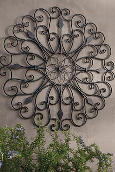 Iron Artwork Outdoor Wall Scrollmetal Wall Hangingbohemian Decorfaux Wrought Iron