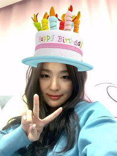 Korean Girl Band, Korean Girl Groups, Overlays Cute, Happy Birthday, Birthday Cake, Me As A Girlfriend, Kang Seulgi, Red Velvet Seulgi, Girl Bands