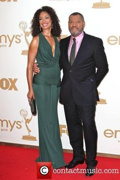 Laurence Fishburne and wife Gina Torres Famous Celebrity Couples, Famous Couples, Celebrity Style, Beautiful Couple, Gorgeous Women, Black Celebrities, Celebs, Sarah Rafferty, Gina Torres
