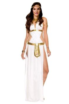Amour Sexy White Greek Goddess Costume Long Dress Halloween   Fashion Too Cheap