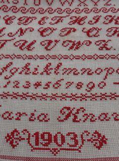 Sampler from my collection, Steekjes & Kruisjes van Marijke