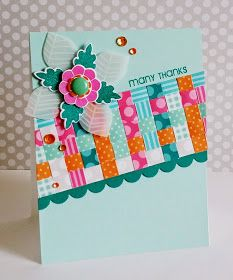 Lovely layers, Fillable frames #1, Scallop edge border punch, Thank you