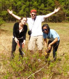Claudia, Jacob and Raven enjoying the Earth day at school
