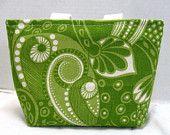 green paisley bag