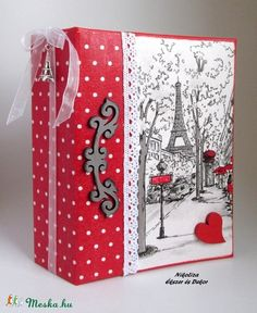 Párizs fotóalbum (53) (NikoLizaDekor) - Meska.hu Gift Wrapping, Gifts, Diy, Book, Photos, Crates, Photograph Album, Gift Wrapping Paper, Presents