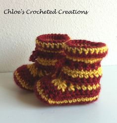 Crochet Harry Potter Inspired Baby Booties by ChloesCrocheted