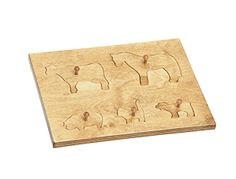 American Made Puzzle Board with Farm Animals