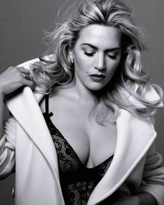 Kate Winslet Black Lingerie Black And White 8x10 Picture Celebrity Print