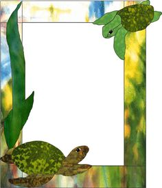 Sea Turtles picture frame REMEMBER...TRACING IS STEALING...UNLESS NOTES AS A FREE PATTEN.  THIS ONE IS ONLY A FEW BUCKS.  :-D A SMILE PRICE TO STAY IN GOD'S GRACE.  DON'T YA THINK?