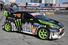 Ken Block's Ford Fiesta.----Ken Block is a professional rally driver with the Hoonigan Racing Division, formerly known as the Monster World Rally Team.