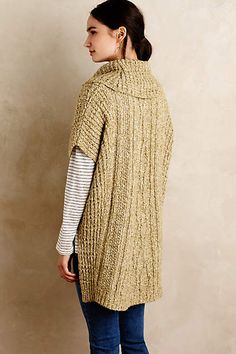 Hedera Cable Poncho - anthropologie.com