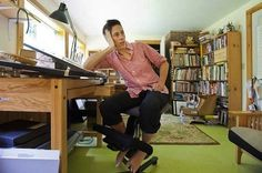 Photo Credit: Glenn RussellPhoto Credit: Glenn Russell Alison Bechdel in her home studio. Harriet The Spy, Writers Desk, Writers Write, Alison Bechdel, Seattle Homes, Buy Photos, To My Mother, Book Writer, Home Studio