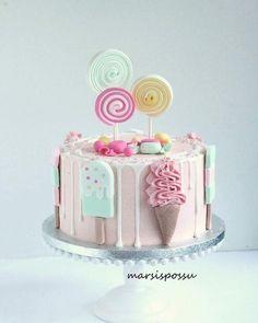 ek maruga na ja tu buss mil bahut ghum rahi ha na 😡😡😡😡 Candy Theme Cake, Candy Birthday Cakes, Creative Birthday Cakes, Ice Cream Birthday Cake, Beautiful Birthday Cakes, Candy Cakes, Ice Cream Party, Cupcake Cakes, Ice Cream Theme