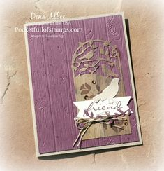 Stampin' Up! Botanical Bliss - Today's card pairs the Botanical Bliss bundle with Wood Textures DSP and the Pinewood Planks embossing folder...a card any friend would be pleased to receive.