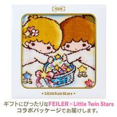 【2017】★Faylor Chenille Woven Handkerchief ★648円(税込), 約25×25cm, 綿100%, Made In Germany ★ #SanrioLicense #FEILER ★ #LittleTwinStars