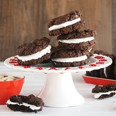 Mexican Hot Cocoa Sandwich Cookies by chocolatemoosey