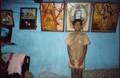 """Manik  A """"self portrait"""" by Manik included in """"Kids With Cameras: Calcutta,"""" an exhibition of photographs by children who live in a red-light district in India."""