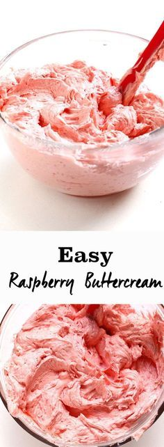 Easy Raspberry Buttercream - A delicious fresh buttercream that is perfect for any cake or cupcakes. Easy to make and creates a beautiful natural colour.