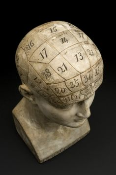 Phrenological head, London, England, 1821