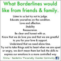 Borderline Personality Disorder awareness. #Psychological ...