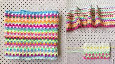 When I posted the Snuggle Stitch blanket I am making on Instagram, a few people asked me how to do the stitch, so here is a photo how-to...