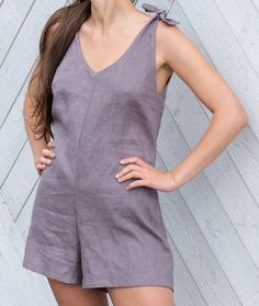 Gray linen overalls linen overall linen jumpsuit women etsy Girly Outfits, Fashion Outfits, Womens Fashion, Ethical Fashion, 2000s Fashion, Fashion Today, Cheap Fashion, Gothic Fashion, Fashion Trends