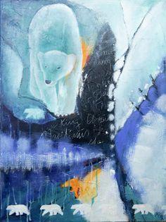 Doo it - just doo it: Forårsudstilling (Polar bear), acrylics, 80 x 100 cm