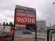 Pizza Pizza Pylon signage