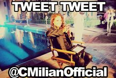 The Voice social media correspondent Christina Milian tweeting away from the Paramour Mansion. #TheVoice