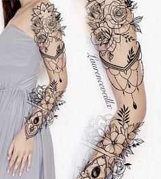 Half Sleeve Tattoo Designs and Meanings Tattoos - diy best tattoo images - Tattoos - Woman Tattoo Sleeve Ideas Design Tattoo Design – Laurenceveillx Tattoo Ideas Tattoo Designs - Best Sleeve Tattoos, Sleeve Tattoos For Women, Sexy Tattoos, Body Art Tattoos, Cool Tattoos, Woman Tattoos, Arm Tattoos, Tattos, Mandala Tattoo Sleeve Women